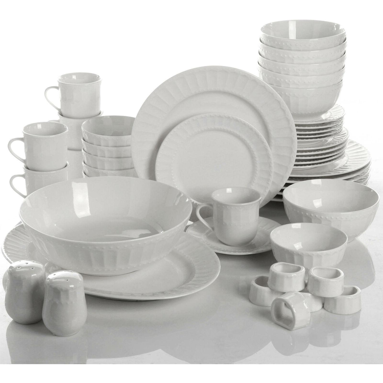 Gibson Home Regalia 46-Piece Dinnerware and Serveware Service 6 New