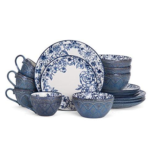 Pfaltzgraff Blue 16-Piece Dinnerware Set, for