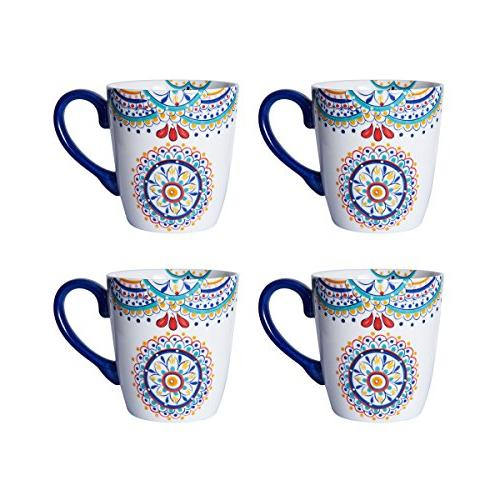 Pfaltzgraff 5229621 Delano Porcelain Dinnerware Set, Multi-Color
