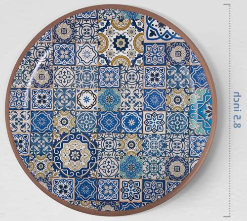 Melange Salad Plate Tiles |