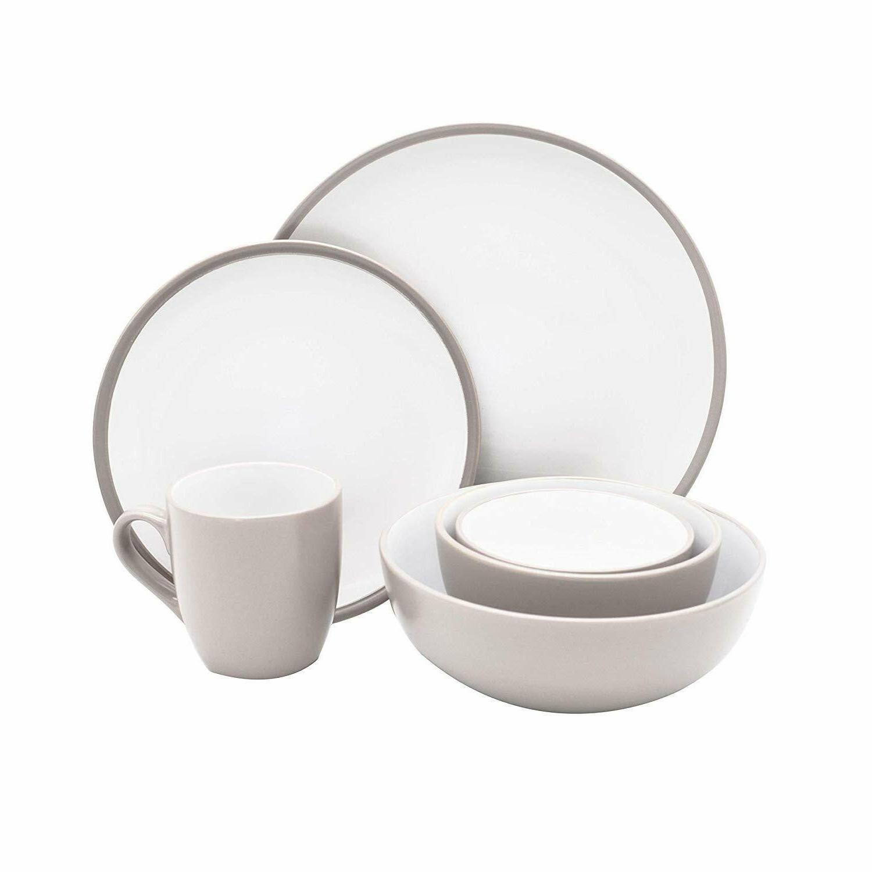 6-Piece Kitchen Dinnerware Set Service, Plates,