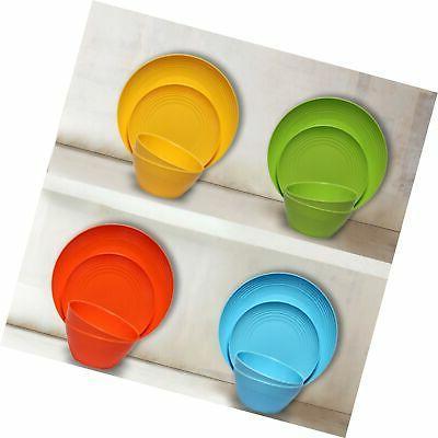 Melange 6-Piece Melamine Plate Set |