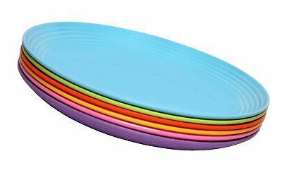 6 piece melamine salad plate set solids