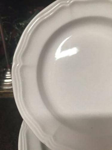 "6 Design 7.75"" White Salad Plates"