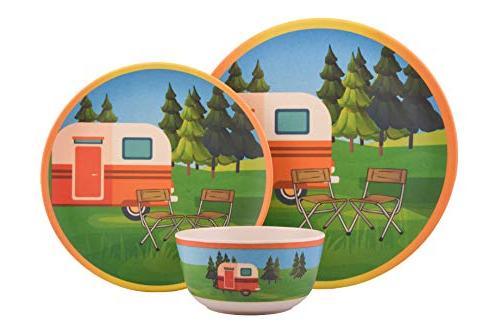 608410093430 bamboo campervan dinnerware set