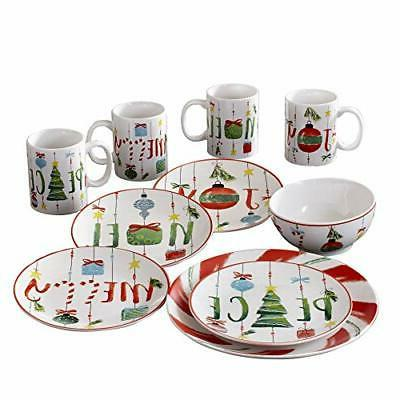 7216 16 rb ornaments holiday dinnerware set