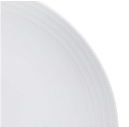 8-Piece Dinnerware White Embossed Porcelain, for