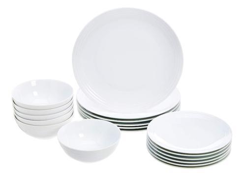 8 piece dinnerware set white embossed porcelain