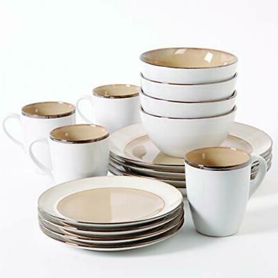 97948 16r amberwood dinnerware set