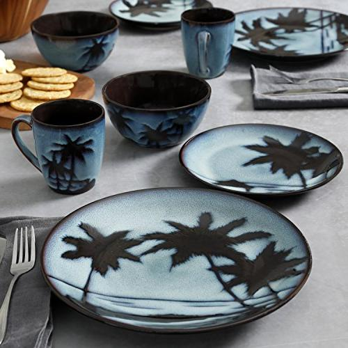Gibson Inc. Sunset Blue Dinnerware Set