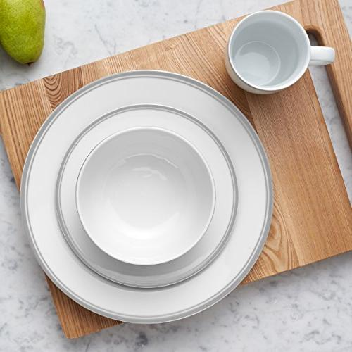 AmazonBasics Cafe Dinnerware 4 - Grey