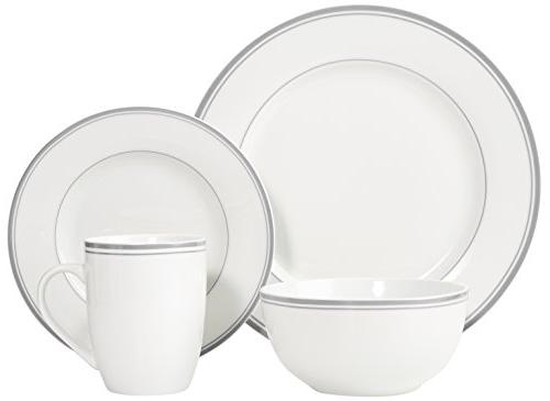 AmazonBasics Cafe Dinnerware Service for 4 -