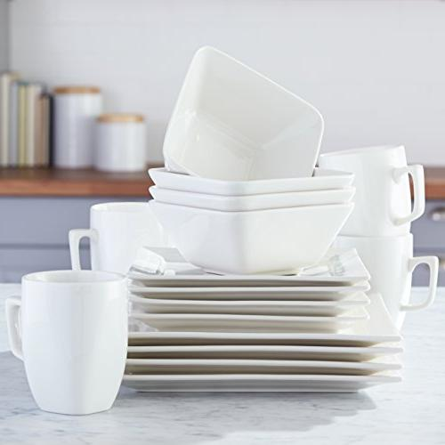 AmazonBasics Classic Dinnerware for