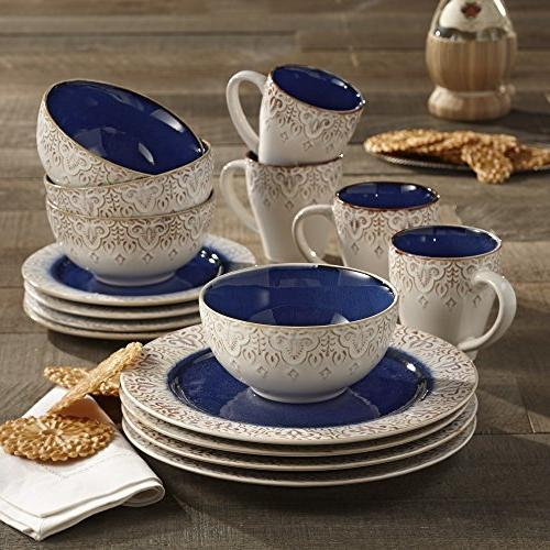 American Atelier 16 Piece Granada Blue