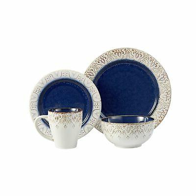 American Piece Granada Round Dinnerware Blue
