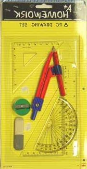 DDI - Math & Drawing set - 8 asst. tools