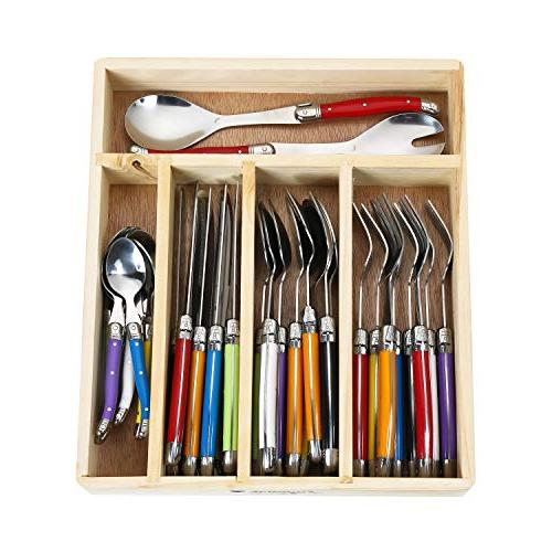 Flying Colors Laguiole Stainless Steel Flatware Set. Multico
