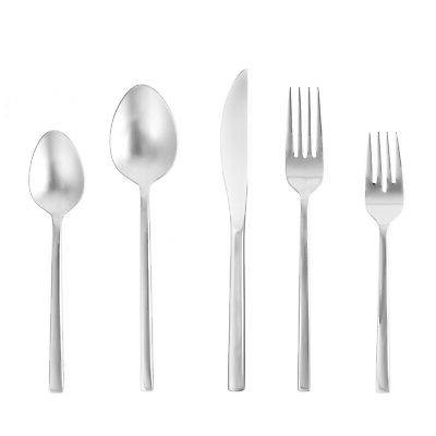 Fortessa Arezzo 18/10 Stainless Steel Flatware, 5 Piece Plac