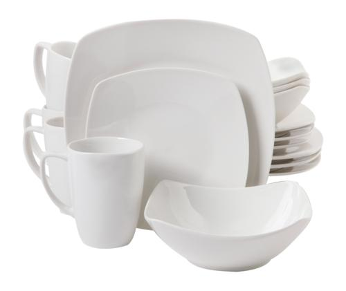 zen buffetware 16 piece dinnerware set white