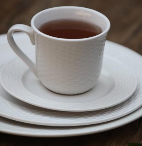 Melange 40-Piece Set | Service 8 Microwave, & Safe | Dinner Plate, Soup Cup & Saucer