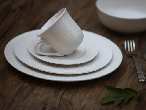 Melange 40-Piece Set | Service 8 & Oven Safe Dinner Plate, Soup Saucer