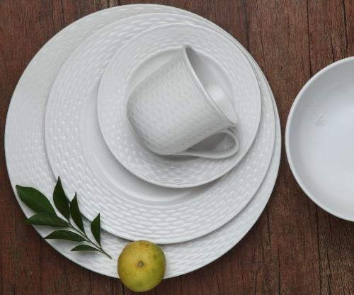 Melange 40-Piece Set | Service 8 Microwave, & | Dinner Plate, Soup Cup Saucer