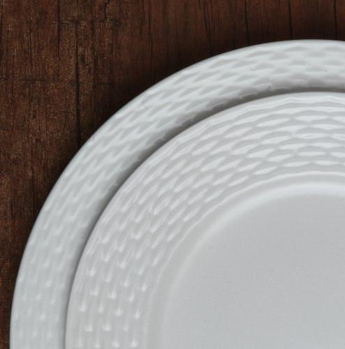 Melange Dinnerware Set | 8 & Oven Dinner Soup Saucer