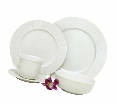 Melange 40-Piece Porcelain Dinnerware Set  | Service for 8 |
