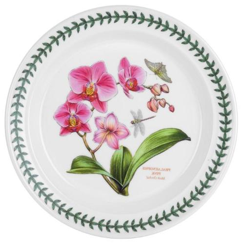 Portmeirion Exotic Botanic Garden Dinner Plate with Orchid M