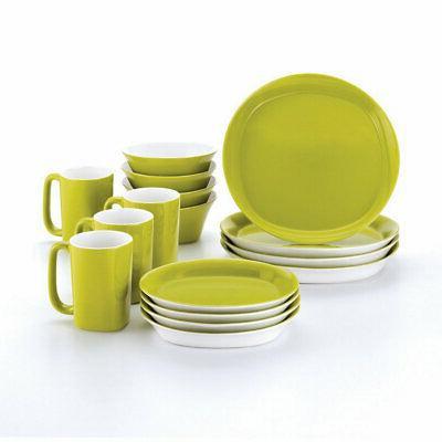 Rachael Ray Dinnerware Round and Square 16-Piece Dinnerware