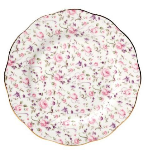 Rose Confetti Formal Vintage Salad Plate