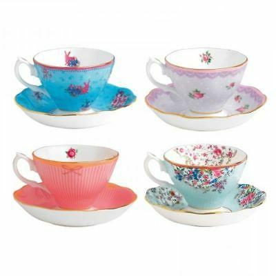 Royal Albert Candy Teacups and Saucers, , Mixed Patterns