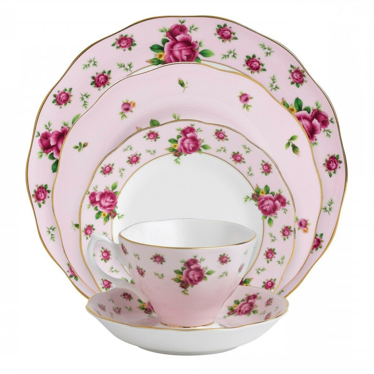 Royal Albert - New Country Roses Pink Vintage Formal - 5 Pc