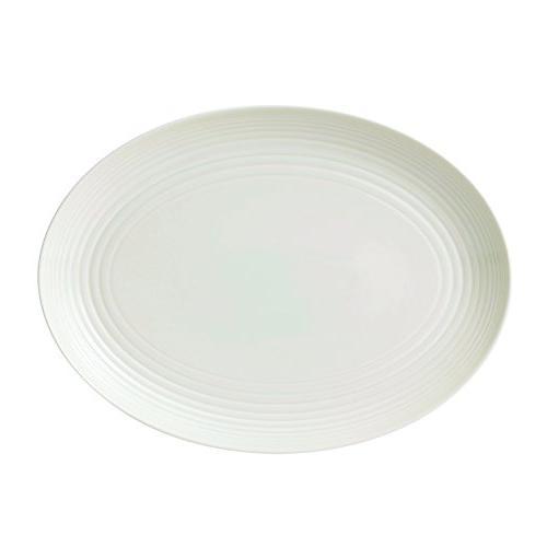 "Royal Doulton Gordon Ramsay Maze Oval Platter, 13"", White"
