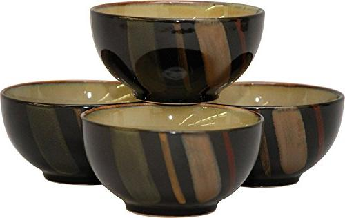 Sango Avanti Black S/4 Ice Cream Bowls