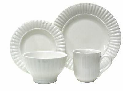 Thomson Pottery 16−pc Masion White Dinnerware Set