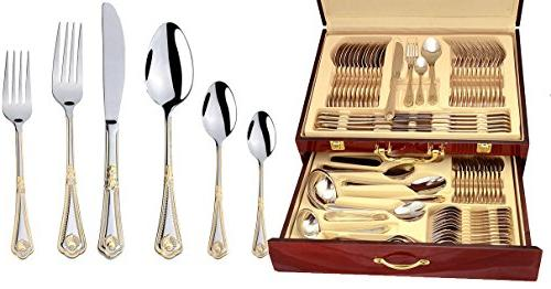 "Venezia Collection ""Seashell"" 75-Piece Fine Flatware Set, Si"