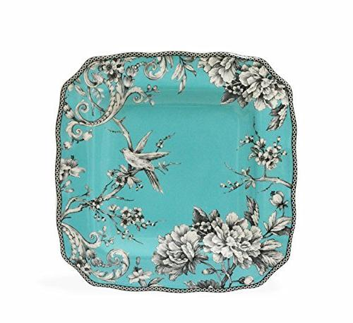 222 Fifth Adelaide Piece Porcelain with Square for 4, Turquoise