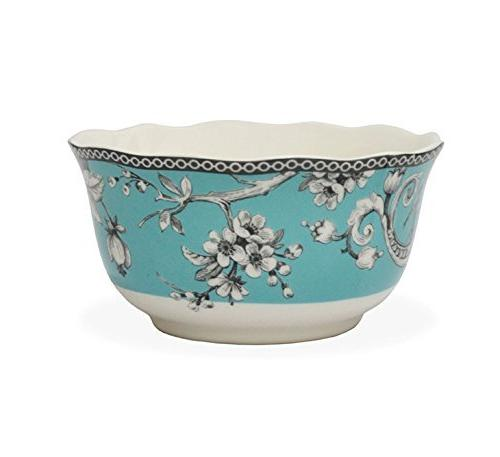222 Piece Porcelain Dinnerware with for 4, Turquoise