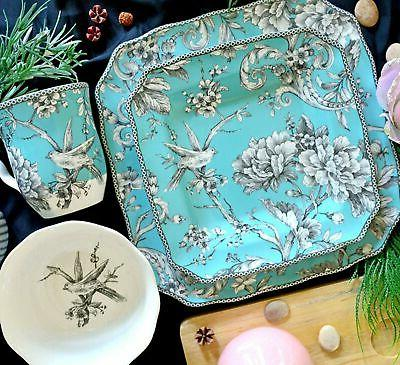 adelaide turquoise dinnerware set