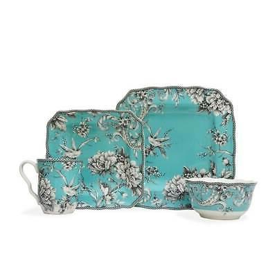 222 Adelaide Turquoise Porcelain Dinnerware