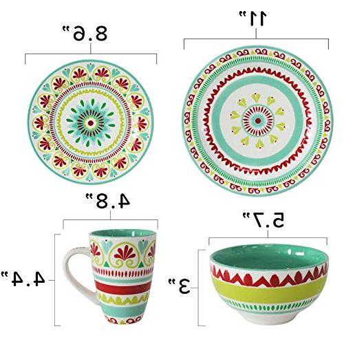 Fall-Inspired Dinnerware Service for 4,
