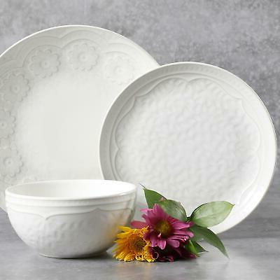 alemany dinnerware set transparent glaze finishing linen