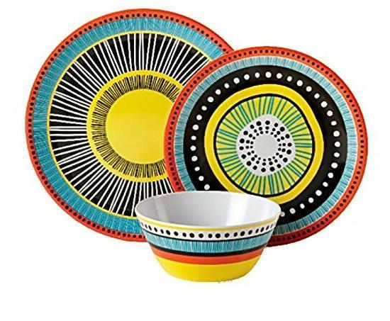 12Pc Plates Bowls Dishes Kitchen