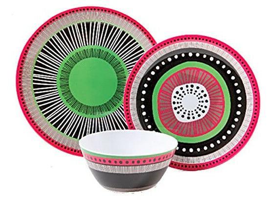 12Pc Almira Dinnerware Plates Bowls Dishes Kitchen 4Set