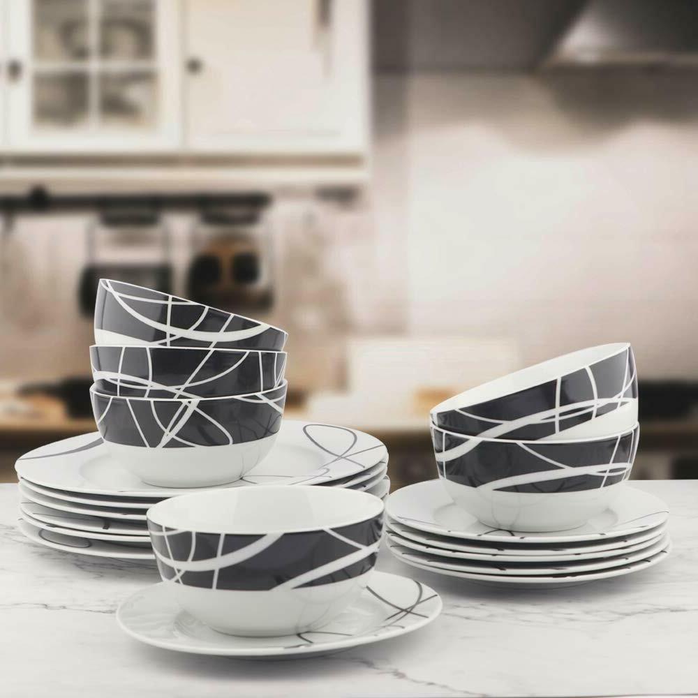 Dinnerware Set 18-Piece Kitchen Dinnerware Set, Dishes, Bowl