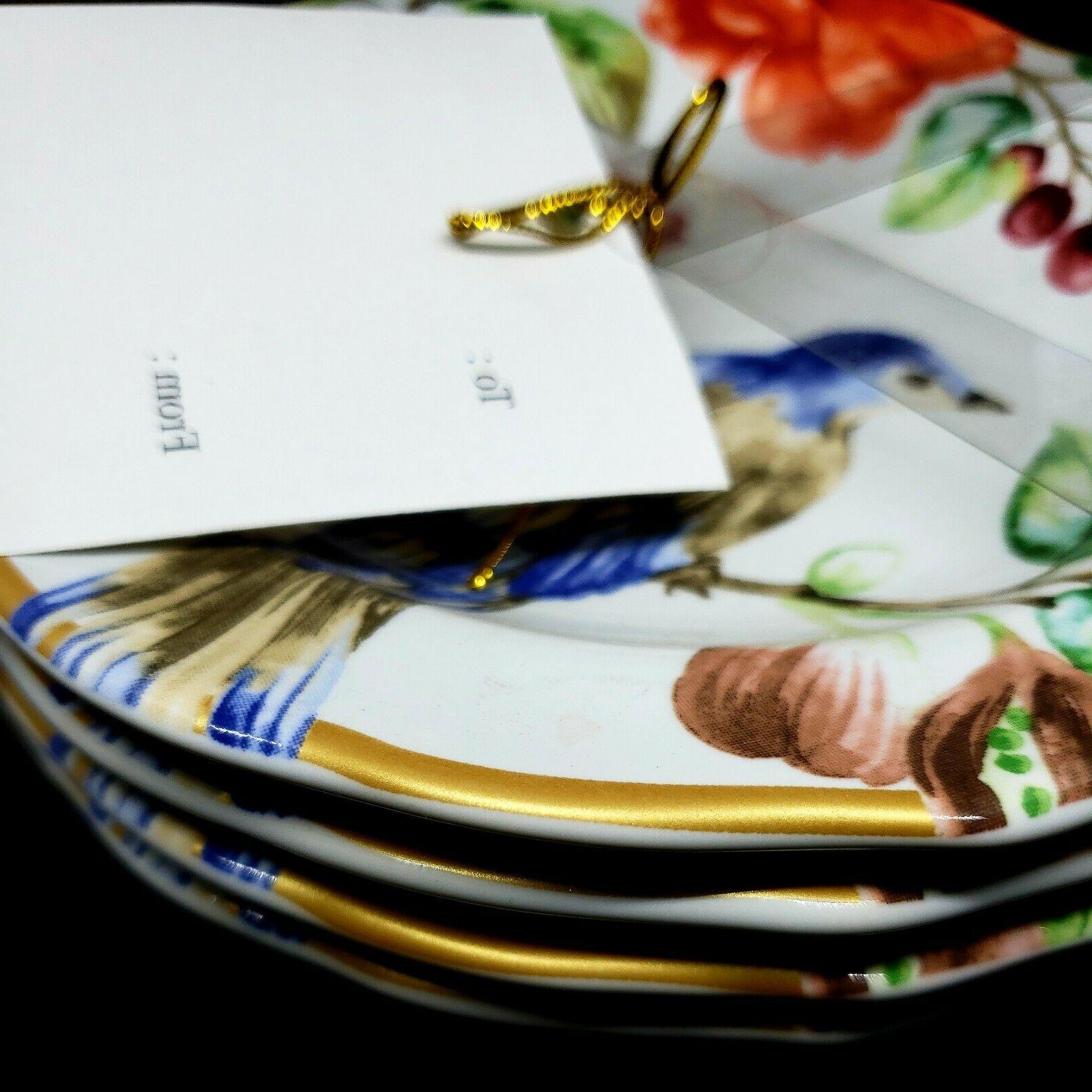 """""""AMBRI"""" 222 set Plates Bird-NWT"""