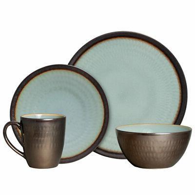 anastasia blue 16 piece dinnerware set
