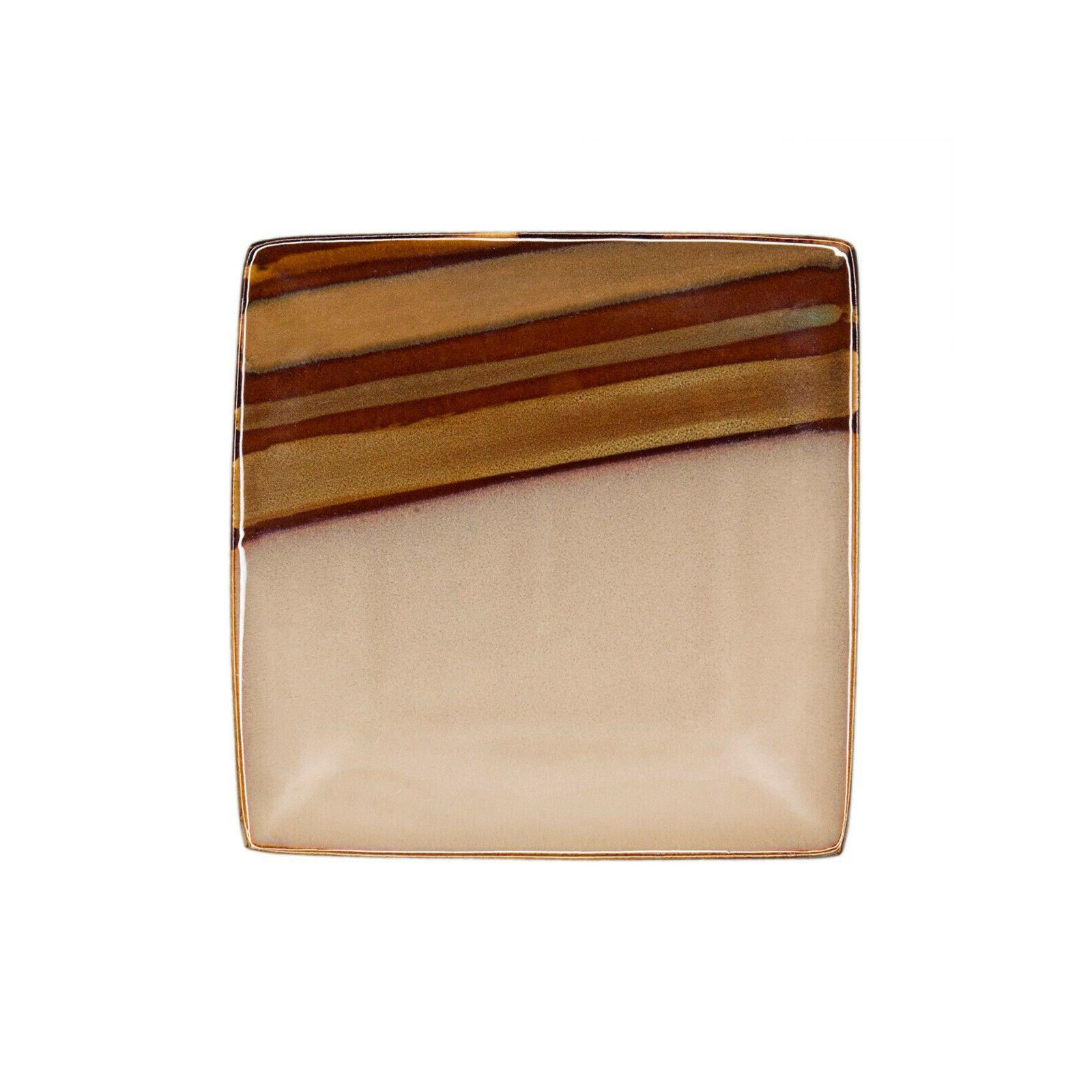 Sango Brown Piece Reactive Glaze Dinnerware