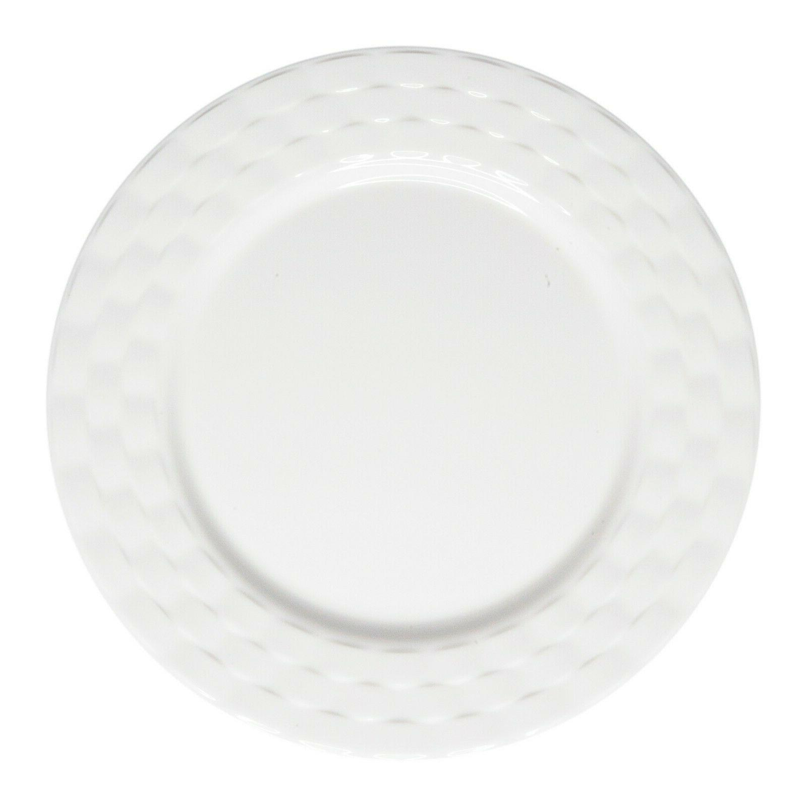 222 Fifth Basket Weave White 12 Piece Dinnerware